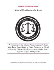 Special Report - Judicial Watch