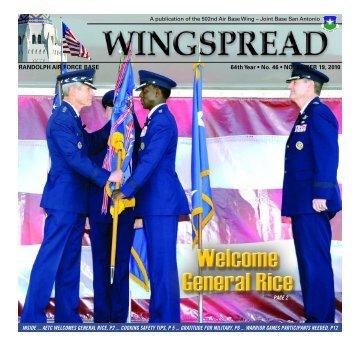 RANDOLPH AIR FORCE BASE 64th Year • No. 46 • NOVEMBER 19 ...