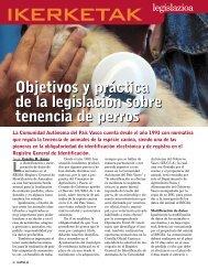 Objetivos y práctica de la legislación sobre tenencia de perros ...