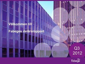 Q3 2012 - Fabege.se