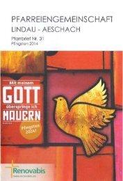spezial - Pfarreiengemeinschaft Lindau-Aeschach