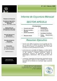 Informe de Coyuntura Mensual SECTOR APÍCOLA Resumen ...