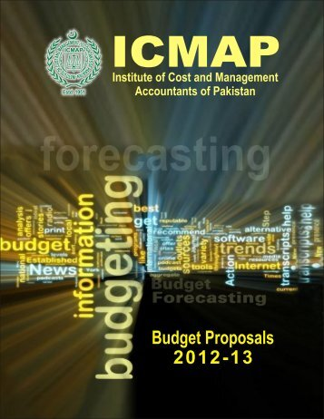 Budget Proposals - Institute of Cost and Management Accountants ...