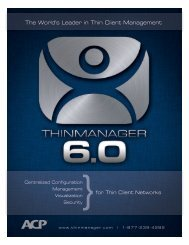 The World's Leader in Thin Client Management - ThinManager