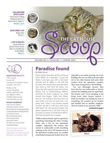 Volume 9, Issue 1 - April 2009 - The Cat House