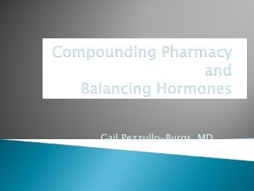 Compounding Pharmacy and Balancing Hormones - Dcpa.us
