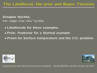The Likelihood, the prior and Bayes Theorem - IMAGe
