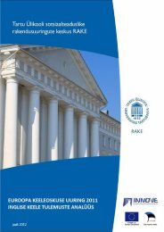 Euroopa keeleoskuse uuring 2011. Eesti õpilaste inglise keele ...