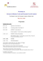 Workshop on Advances in Business Cycles and Economic Growth ...