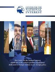 Brochure - Center for The National Interest