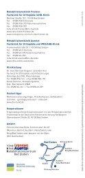 Broschüre Vorstellung Rehabiliationszentrum Bad Stebe