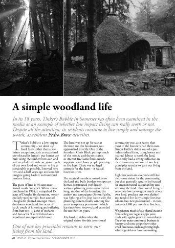 A simple woodland life - Reforesting Scotland