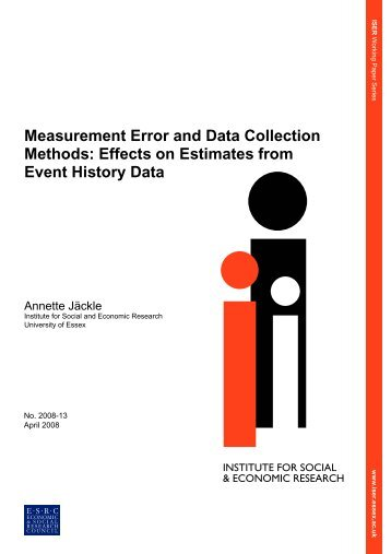 Measurement error and data collection methods - Institute for Social ...