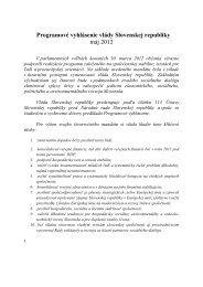 Programové vyhlásenie vlády na roky 2012-2016 - Ministerstvo ...