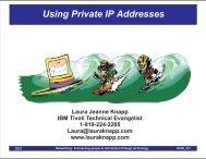 Using Private IP Addresses - Laura Jeanne Knapp