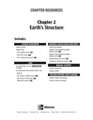 Earth's Structure; Grade 6 Chapter 2 - Peary Middle School