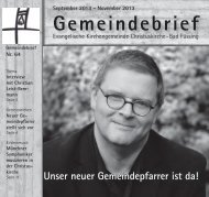 Gemeindebrief September bis November 2013 - Kirchengemeinde ...