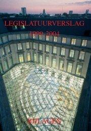 Legislatuurverslag 1999-2004 - Bijlagen. Vlaams Parlement