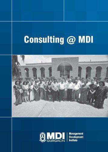 Consulting Brochure - Management Development Institute