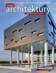 Reklama ALUFIRE w miesięczniku ŚWIAT ARCHITEKTURY