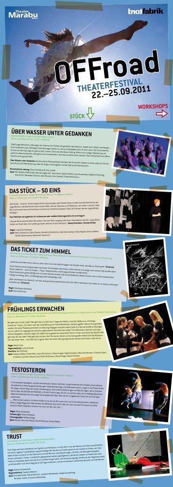 das vollständige Programm als PDF Datei. - Theater Marabu