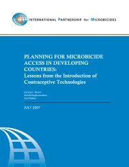 Planning for Microbicide Access in Developing Countries