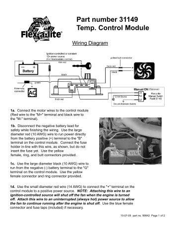 Flex Lite Fan Wiring Diagram - Wiring Diagram Perfomance Fan Controller Wiring Diagram on