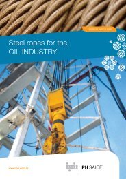 Steel ropes for the OIL INDUSTRY - iph saicf