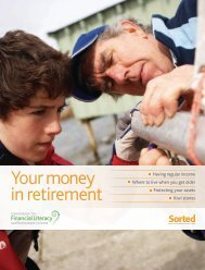 Download PDF of Your money in retirement - Sorted