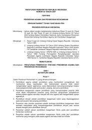 Peraturan Pemerintah No. 55 Tahun 2007 ... - Kemenag Sultra
