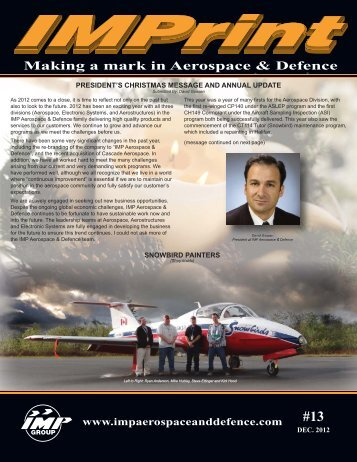Making a mark in Aerospace & Defence - IMP Group