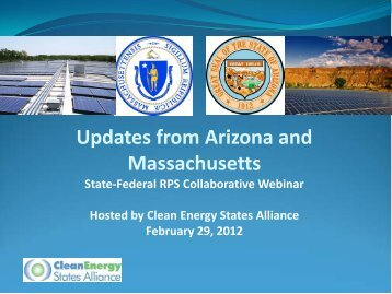 RPS Webinar Presentations - Clean Energy States Alliance