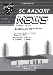 SCA-News Frühjahr 2013 - SC Aadorf