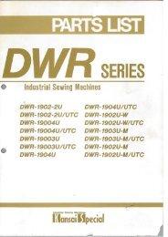Parts book for Kansai DWR Series