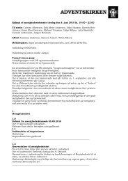 Referat af menighedsrådsmøde tirsdag den 8. juni 2010 ... - KirkeWeb