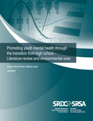 Promoting youth mental health through the transition from high school