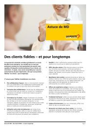 Astuce-MD - Des clients fidèles – et pour longtemps