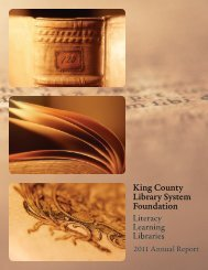 2011 Annual Report - King County Library System