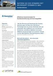 Nanotec Kundenreferenz -Microsoft SharePoint - Prisma Informatik