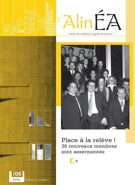avril 2006 - Ordre des évaluateurs agréés du Québec