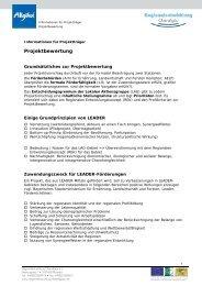 die LEADER-Kriterien - Regionalentwicklung Oberallgäu
