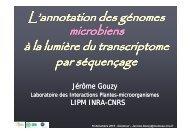 L'annotation des génomes à la lumière du transcriptome par