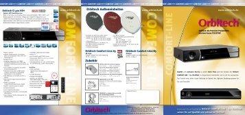 Orbitech COMFORT LINE Prospekt Dezember 2011 - Christo.Net