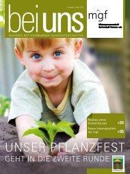 Ausgabe 1. Quartal 2013 - Mietergenossenschaft Gartenstadt ...