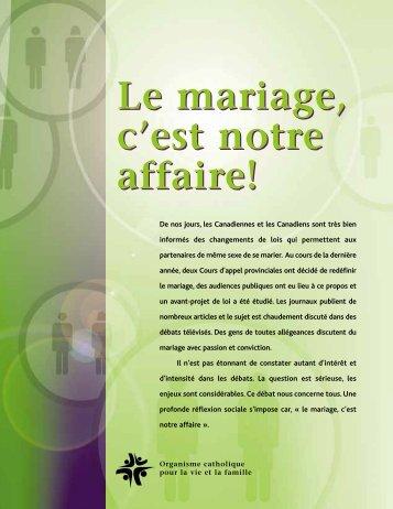 Le mariage, c'est notre affaire! - Conférence des évêques ...