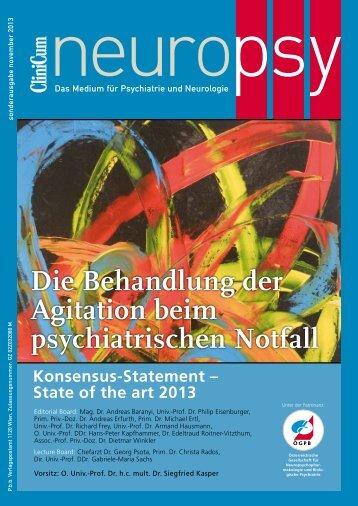 Die Behandlung der Agitation beim psychiatrischen Notfall