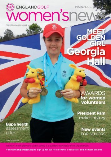England Golf women's print newsletter, March 2013