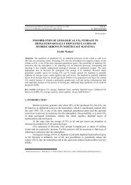 possibilities of geological co2 storage in depleted/partially depleted ...