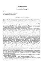 Sprache und Erziehung* - Otto Friedrich Bollnow