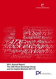 Annual Report The CEE Stock Exchange Group and its Capital ...